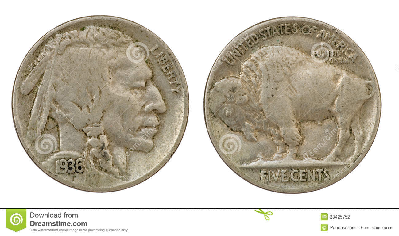 Buffalo Indian Head Nickel Stock Photo Image Of Macro