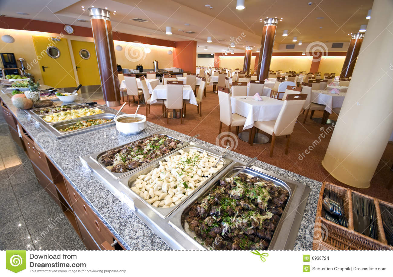 Buffet In Hotel Dining Room Stock Images Image 6938724