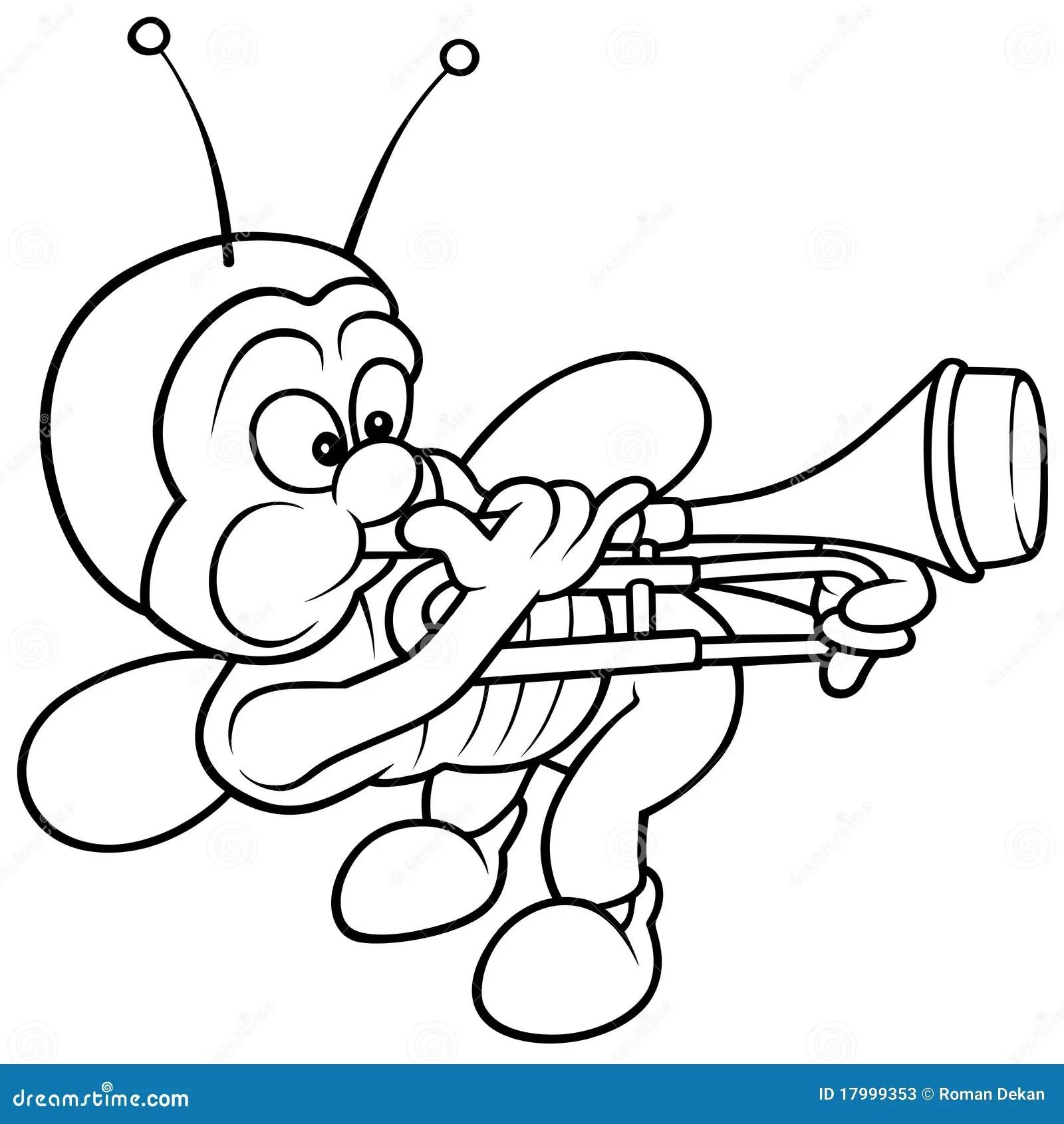 Bug And Trombone Stock Vector Illustration Of Cartoons