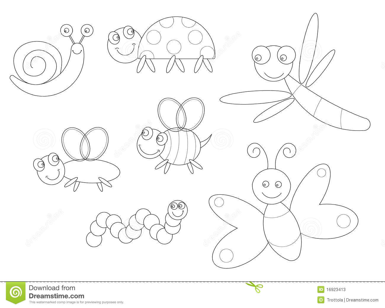 Bugs Coloring Stock Vector Illustration Of Black Kids