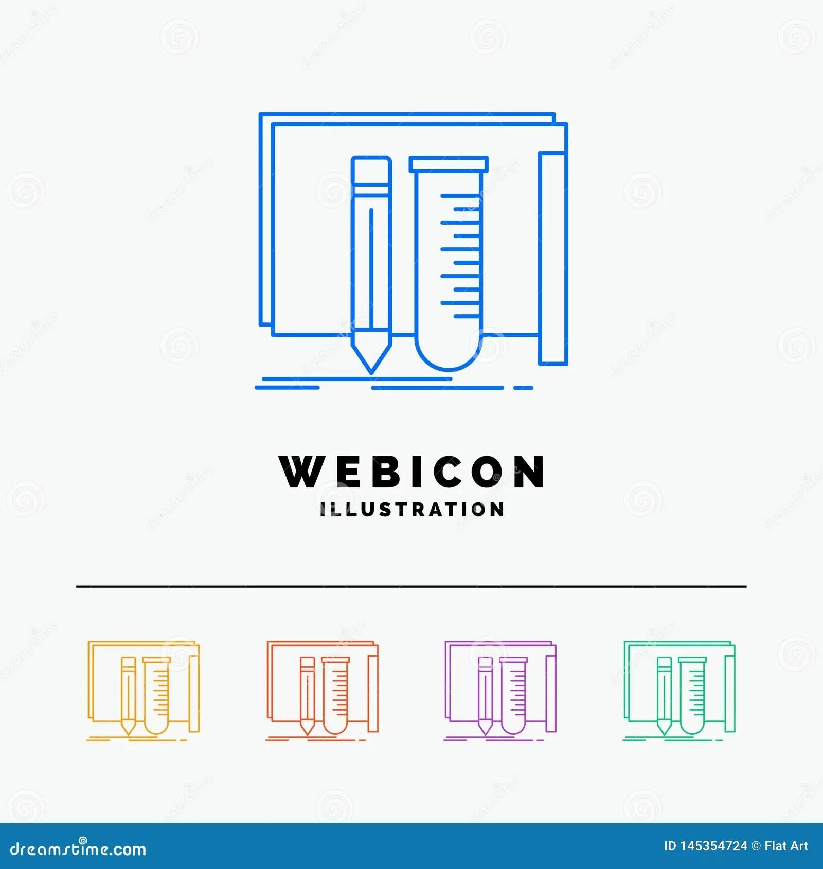 Build Equipment Fab Lab Tools 5 Color Line Web Icon