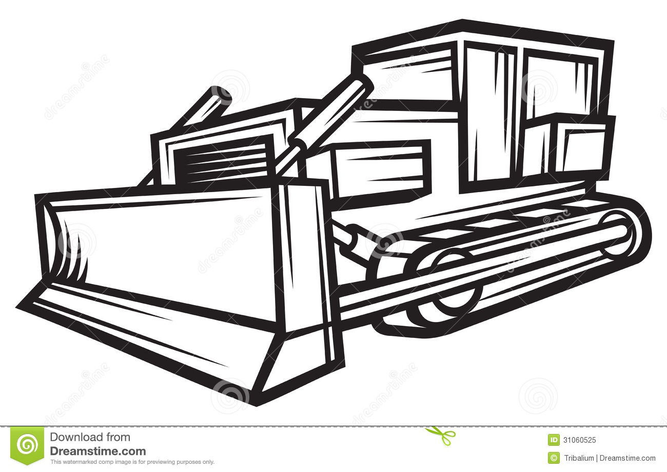Building Bulldozer Stock Vector Illustration Of Engine