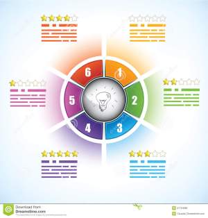 Buiness Diagram Template With Six Parts Royalty Free Stock Photos  Image: 27754568