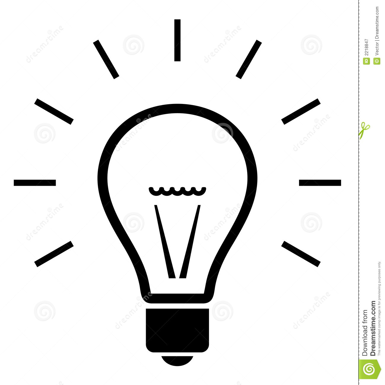 Bulb Illustration Royalty Free Stock Photography