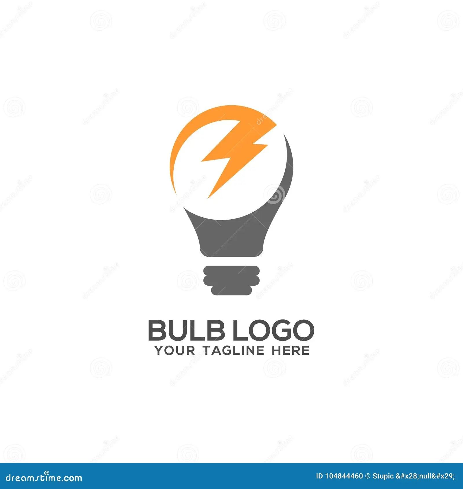 Bulb Light Lamp Logo Vector Art Logo Template Stock
