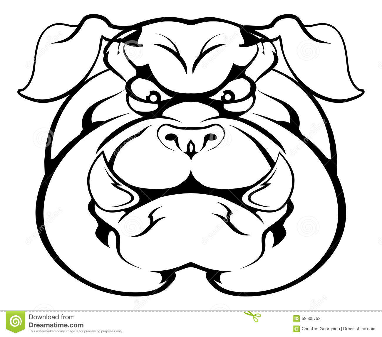 Bulldog Cartoon Character Vector Illustration