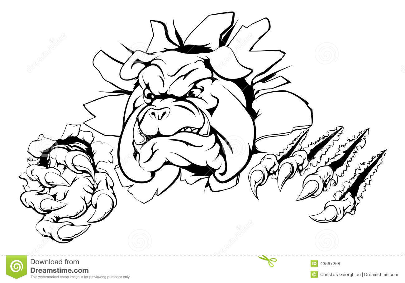 Bulldog Claw Breakthrough Stock Vector
