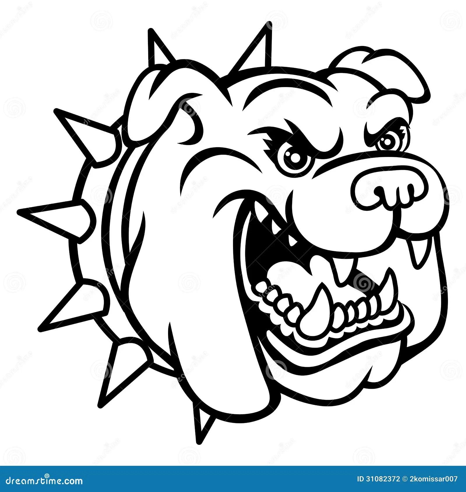 Bulldog Head Stock Vector Illustration Of Danger Mane