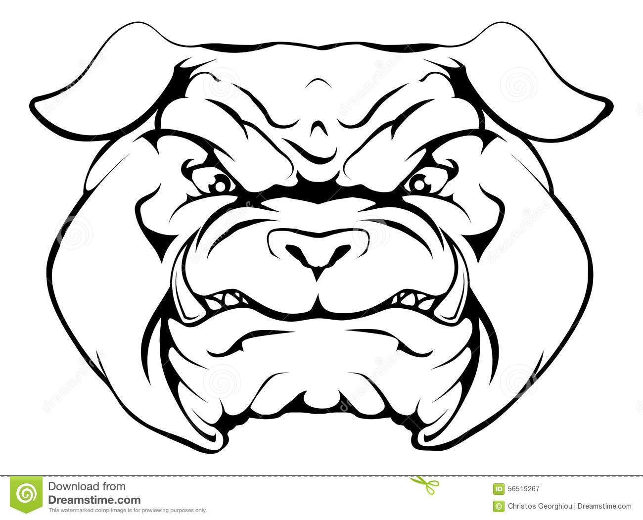 Bulldog Stock Vector Image Of Cartoon Image Mascots