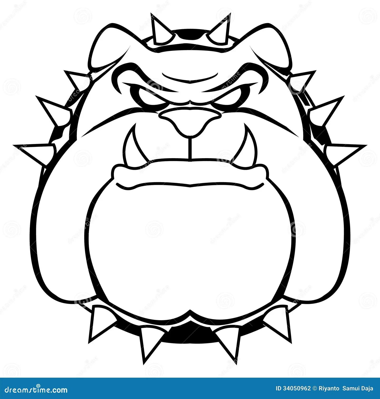 Bulldog Stock Vector Illustration Of English Head