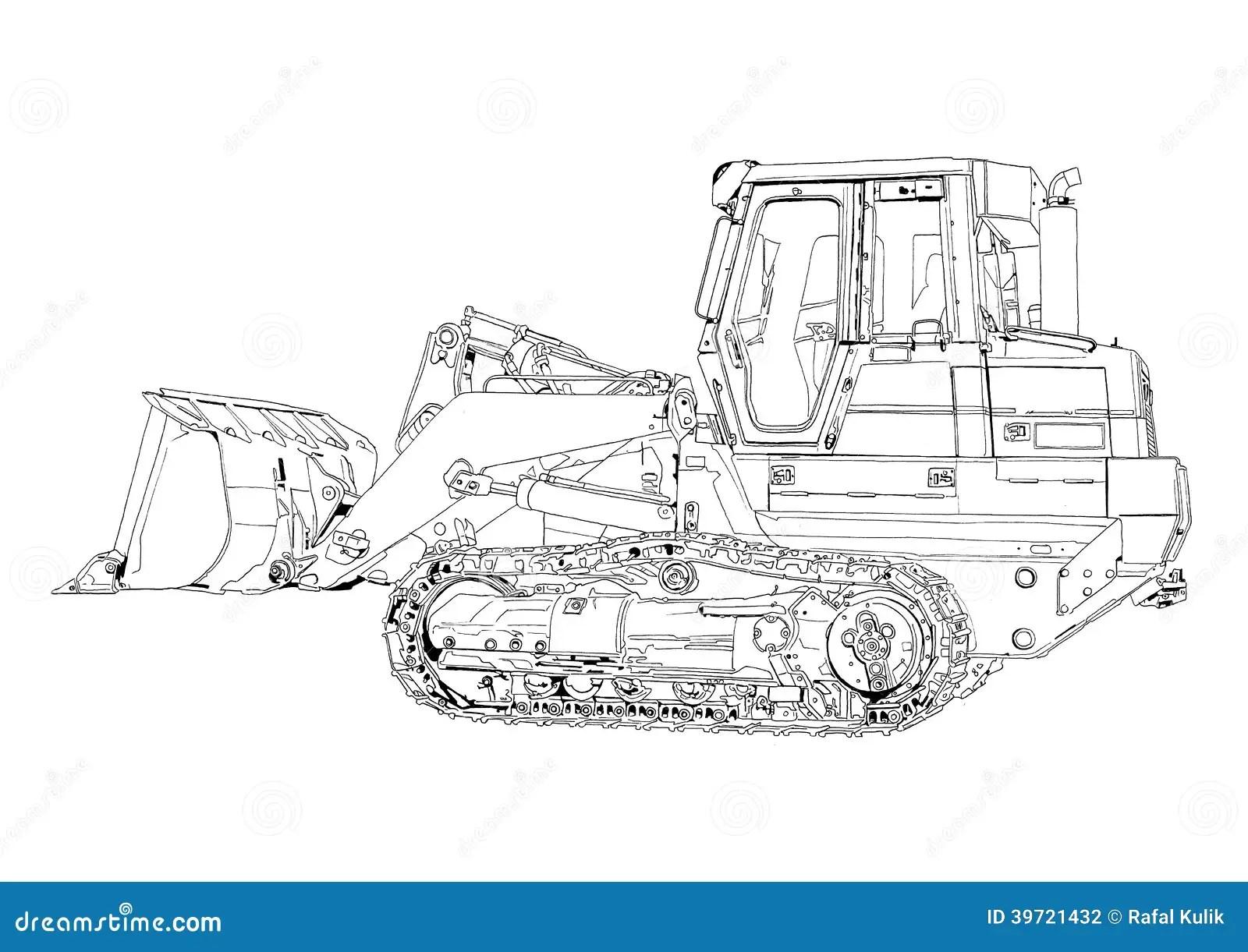 Bulldozer Illustration Art Drawing Stock Illustration