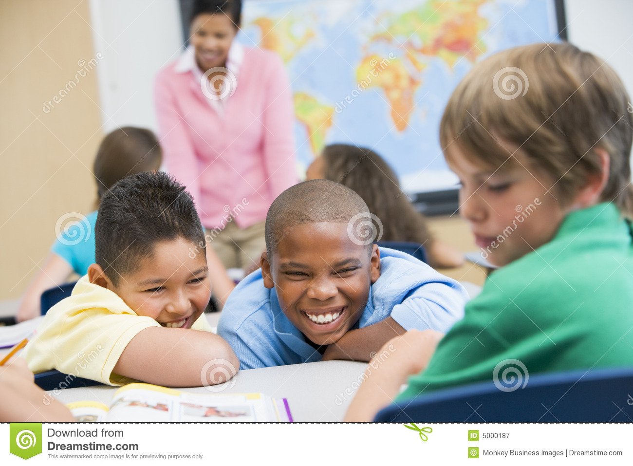 Bullying In Elementary School Stock Image