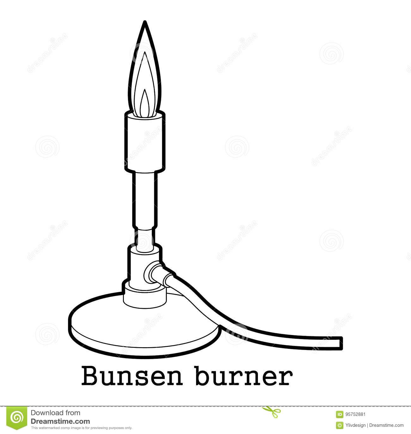 Bunsen Burner Icon Outline Stock Vector Illustration Of