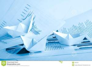 Business Concept, Paper Boat And Documents Royalty Free