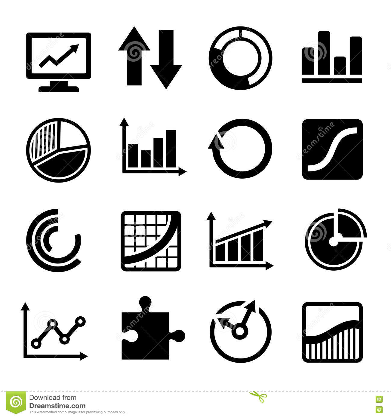 Business Diagram And Infographic Icons Set Stock Vector