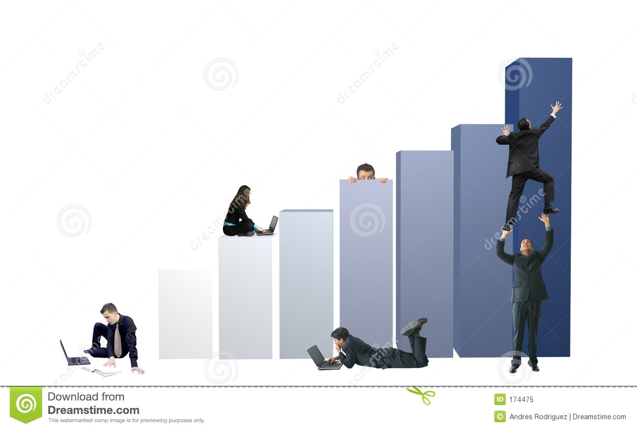 Business Environment Teamwork Graph 15mp Stock Illustration Illustration Of Distribution