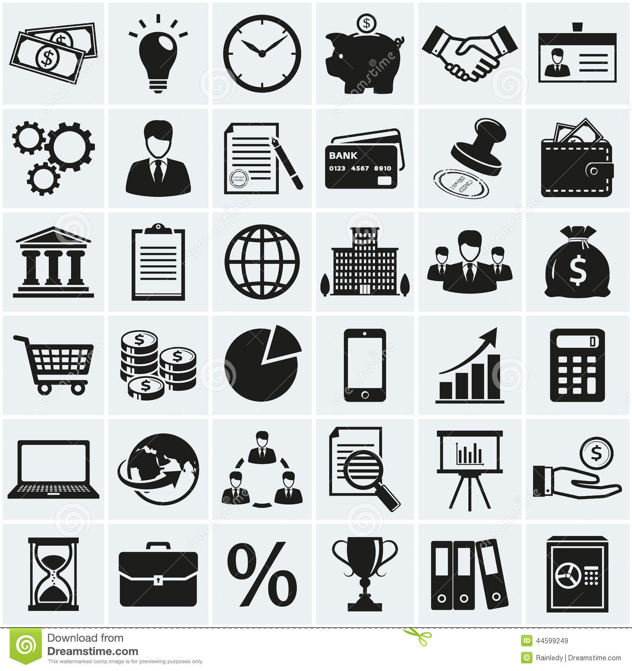 Business And Finance Icons Vector Set Stock Vector