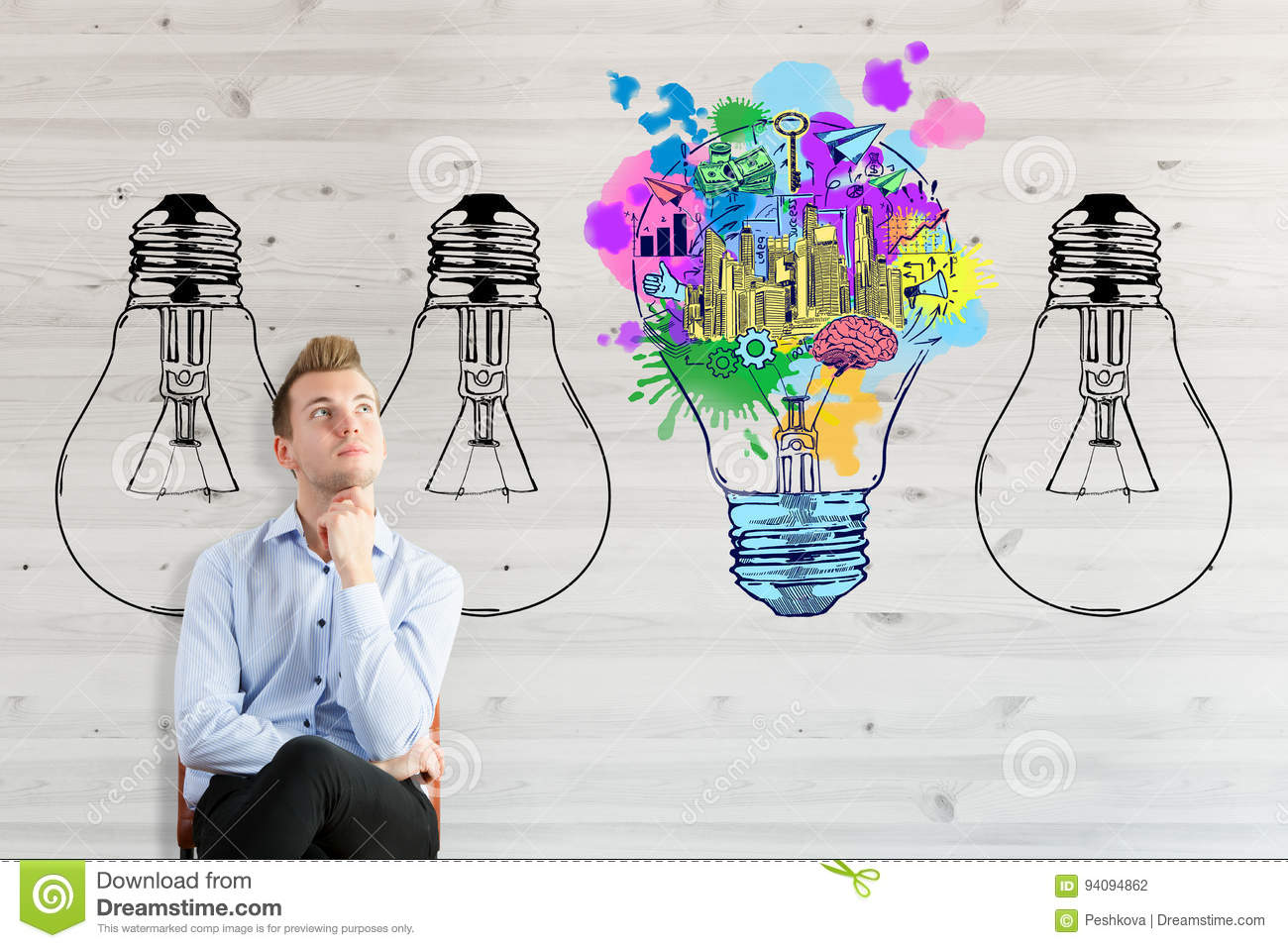 Business Ideas Concept Stock Photo Image Of Brainstorming