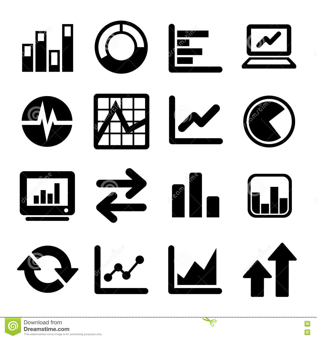 Business Infographic Icons Stock Vector Illustration Of