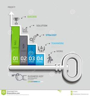 Business Key Staircase Concept Infographic Templat Stock