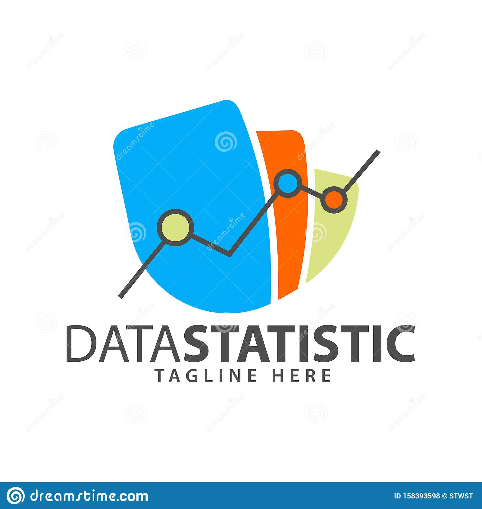Cash book spreadsheet bank reconciliation form delivery docket template statement of account petty cash log petty cash vouchers. Business Logo Data Statistics And Bookkeeping Templates With Color Diagrams Stock Vector Illustration Of Design Achievement 158393598