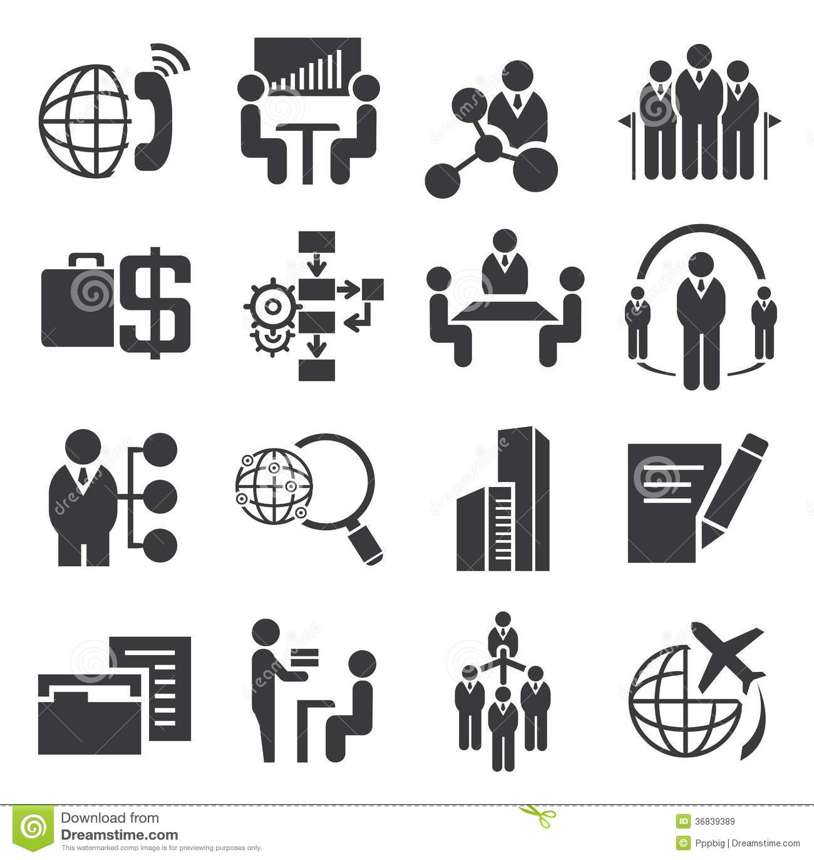 Business Management Icons Stock Illustration Illustration Of Presentation