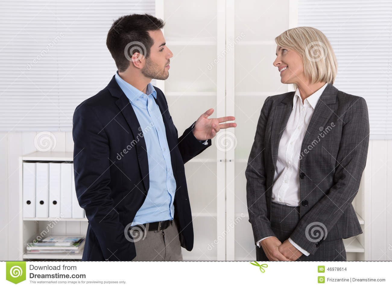 Business People In Suit And Dress Talking Together Small