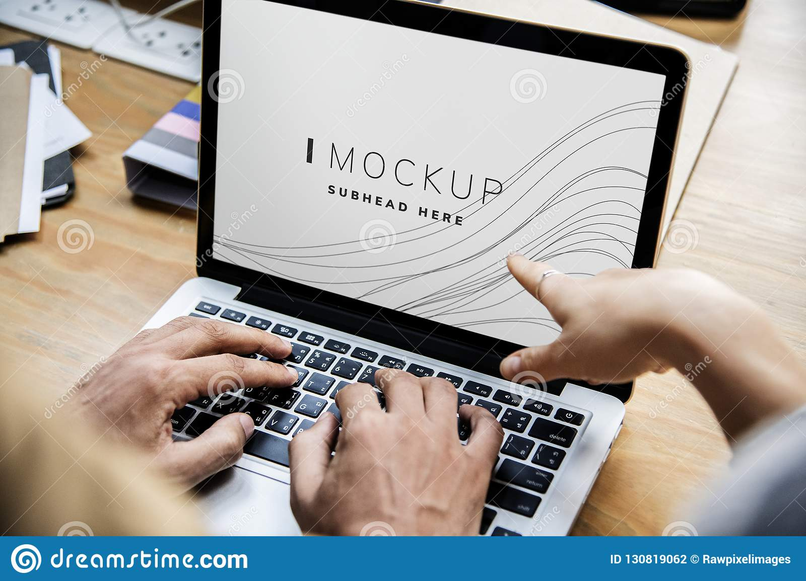I have 2 laptop lcd screens that work fine (i think), but i don'. Business People Working On A Laptop With A Screen Mockup Stock Photo Image Of Business Design 130819062