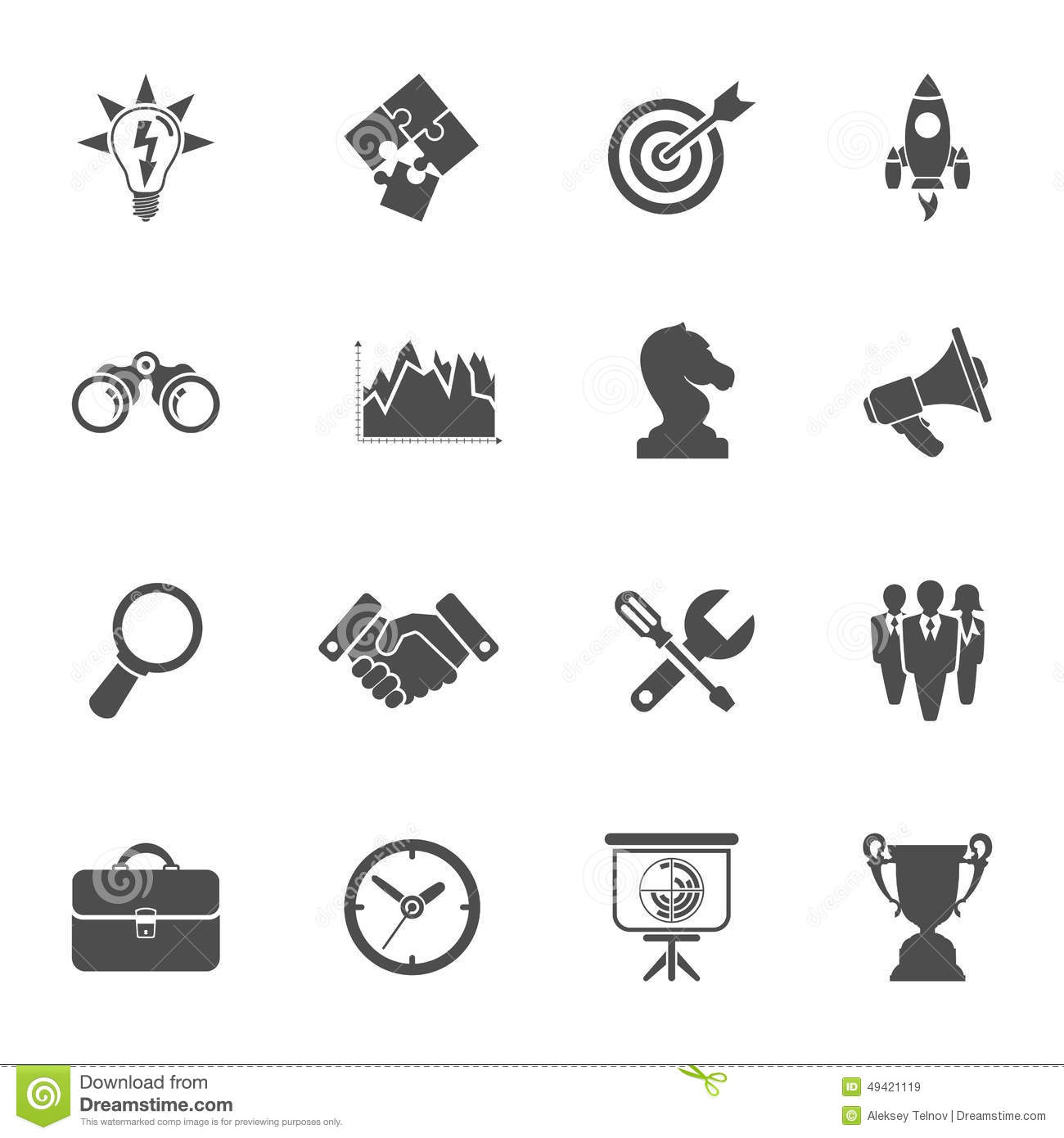 Business Strategy Icon Set Stock Vector Image Of Research