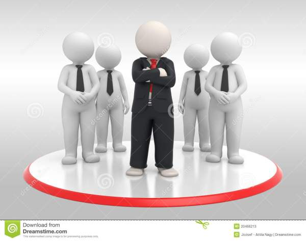 Business Team With Leader - 3d Stock Photos - Image: 20466213