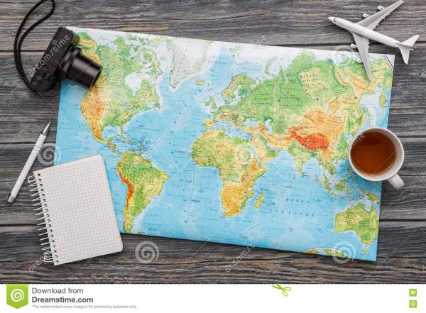 Business Travel Traveling Map World Concept. Stock Image ...