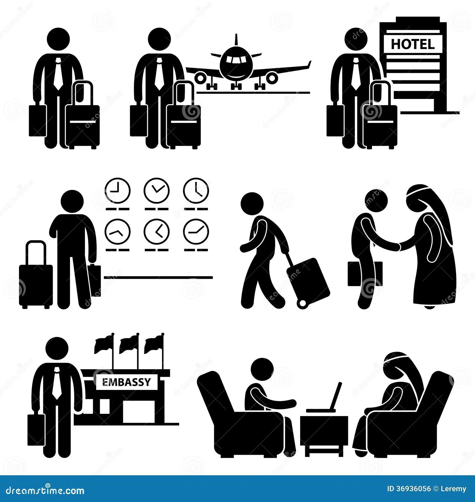 Business Trip Businessman Travel Stock Vector