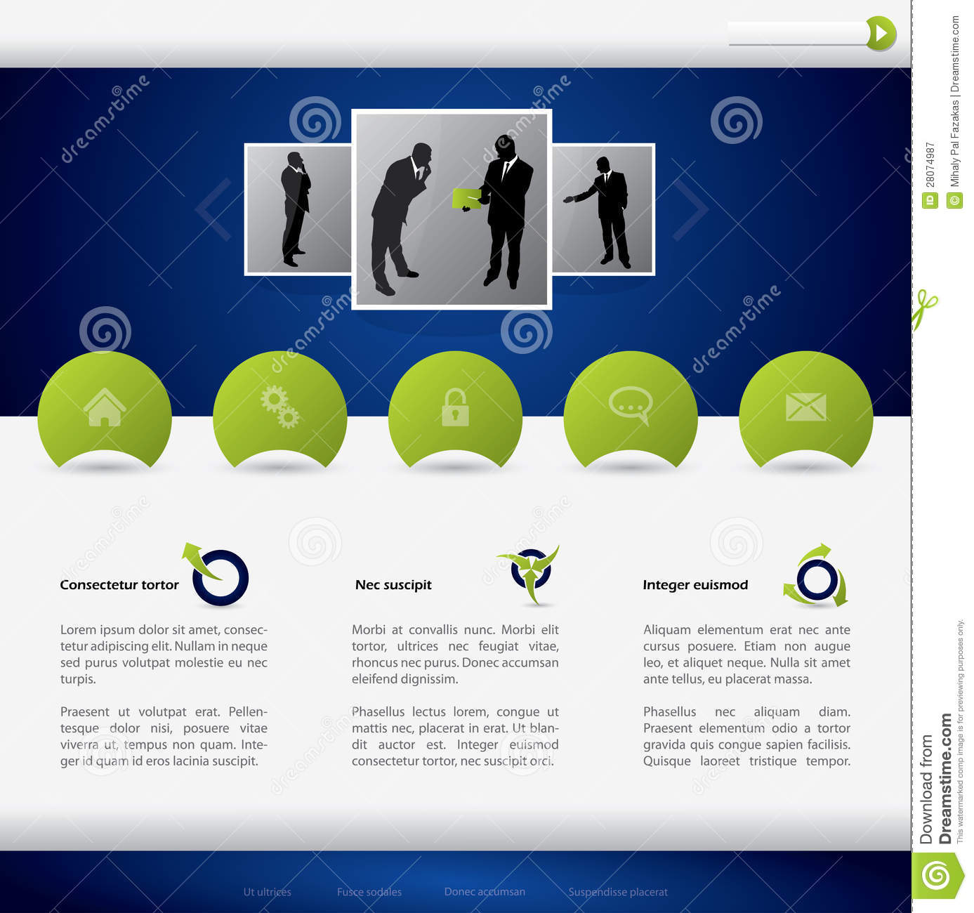 Choose a free business website template to start creating your stunning website. Business Website Template Design Stock Vector Illustration Of Modern Text 28074987