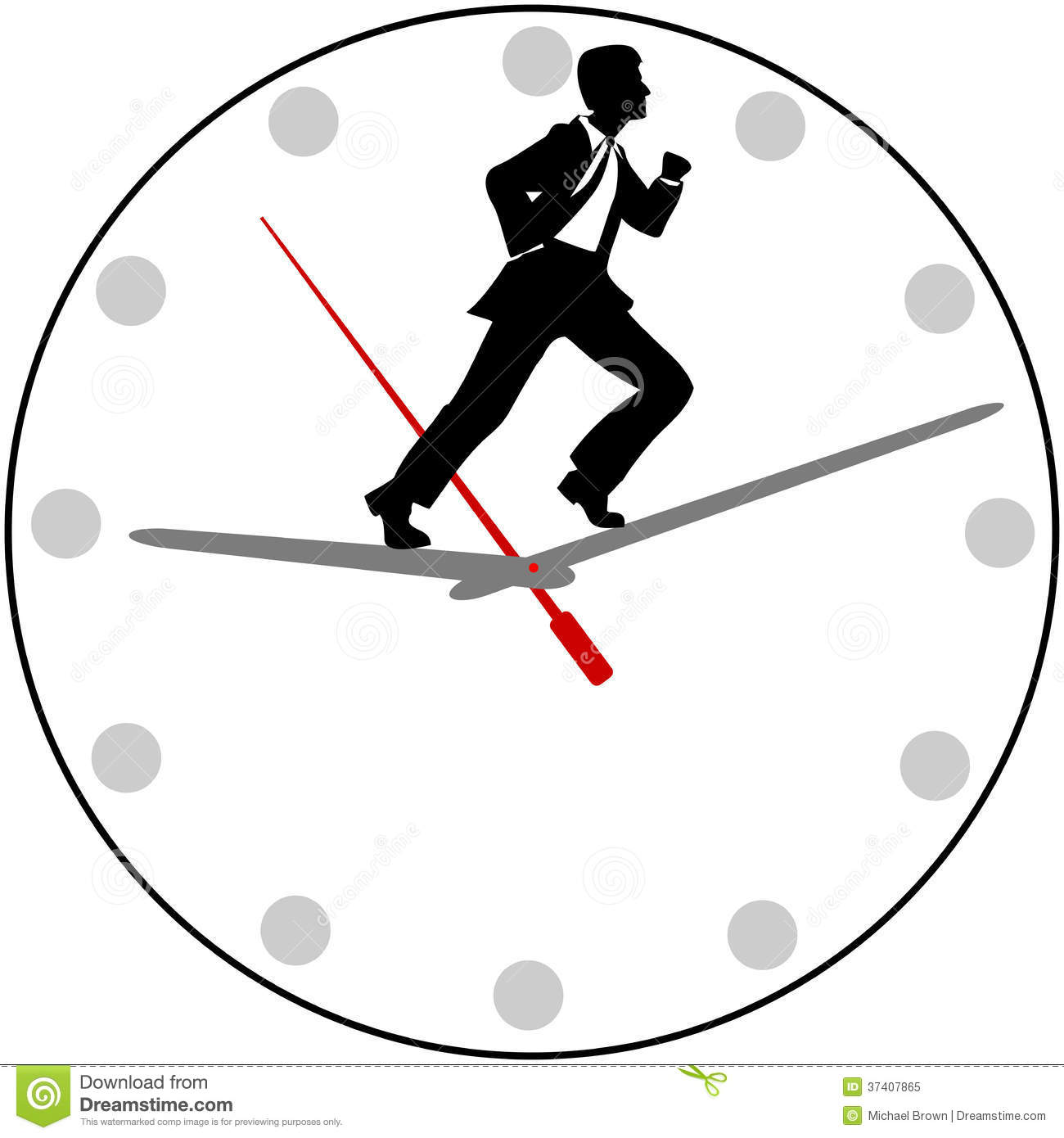 Busy Business Man Appointment Hurry Stock Vector