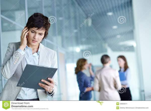 Busy employer stock image. Image of female, caucasian ...