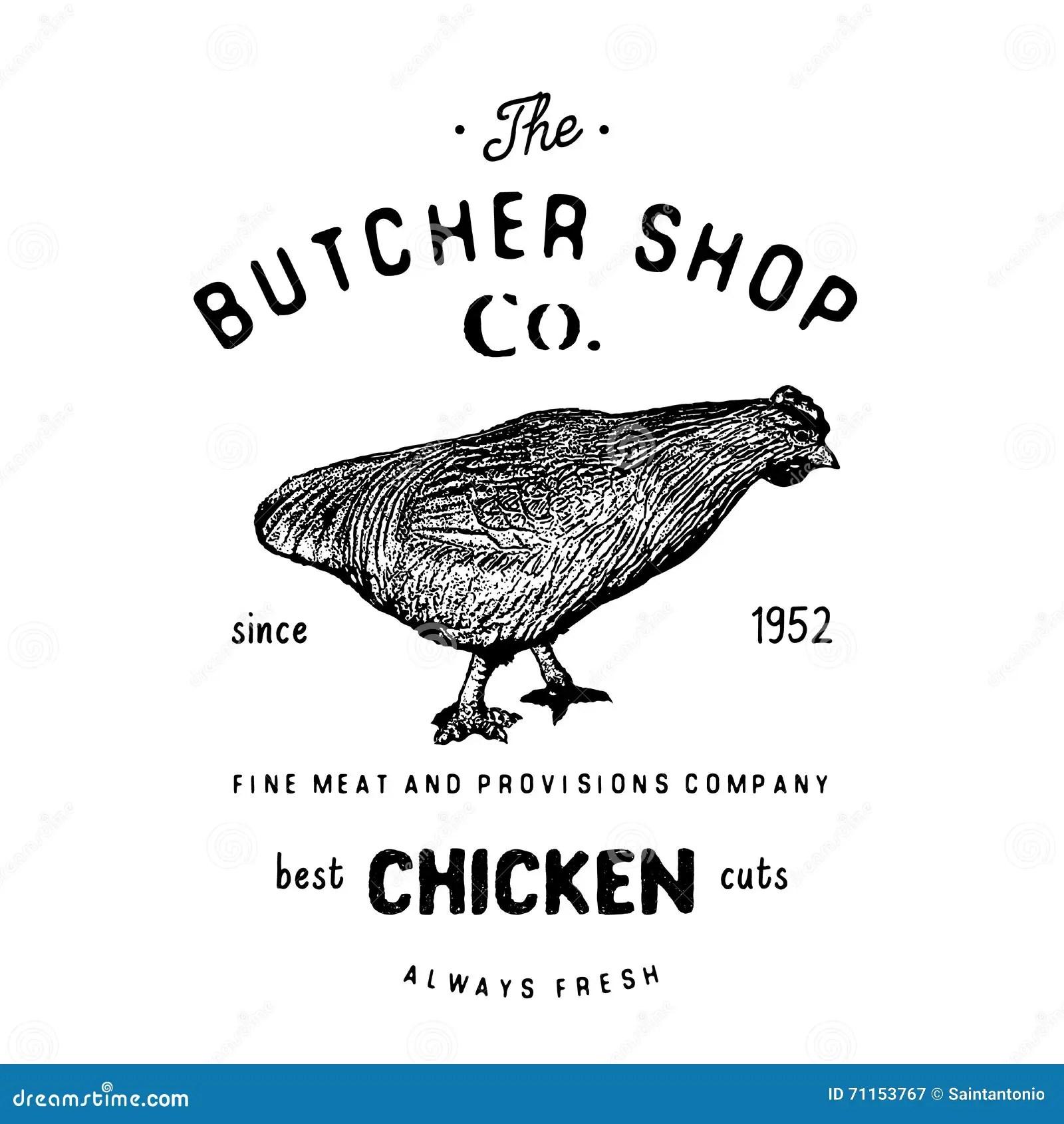 Set Of Butchery Logotype Templates Cartoon Farm Animals