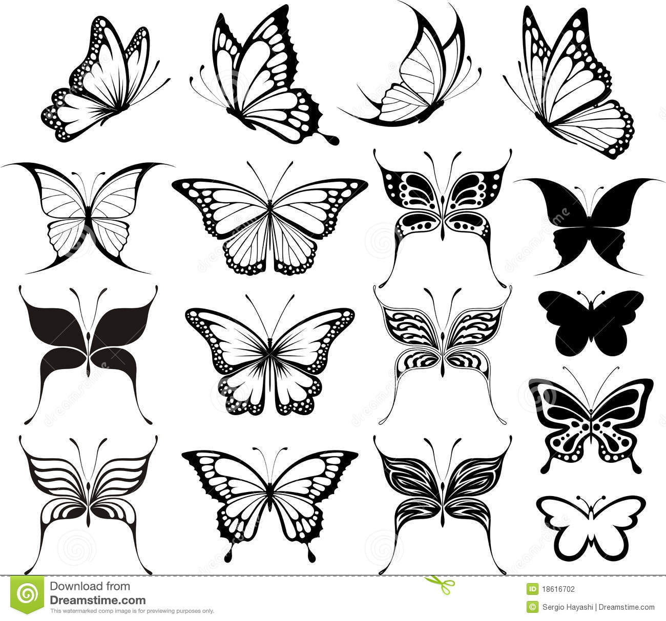 Butterfly Clipart Stock Photography