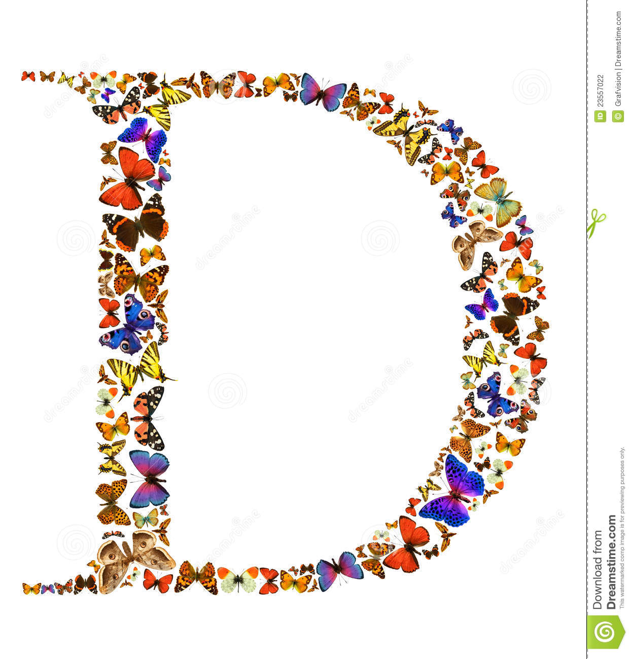 Butterfly Letter Stock Photo Image Of Font Butterfly