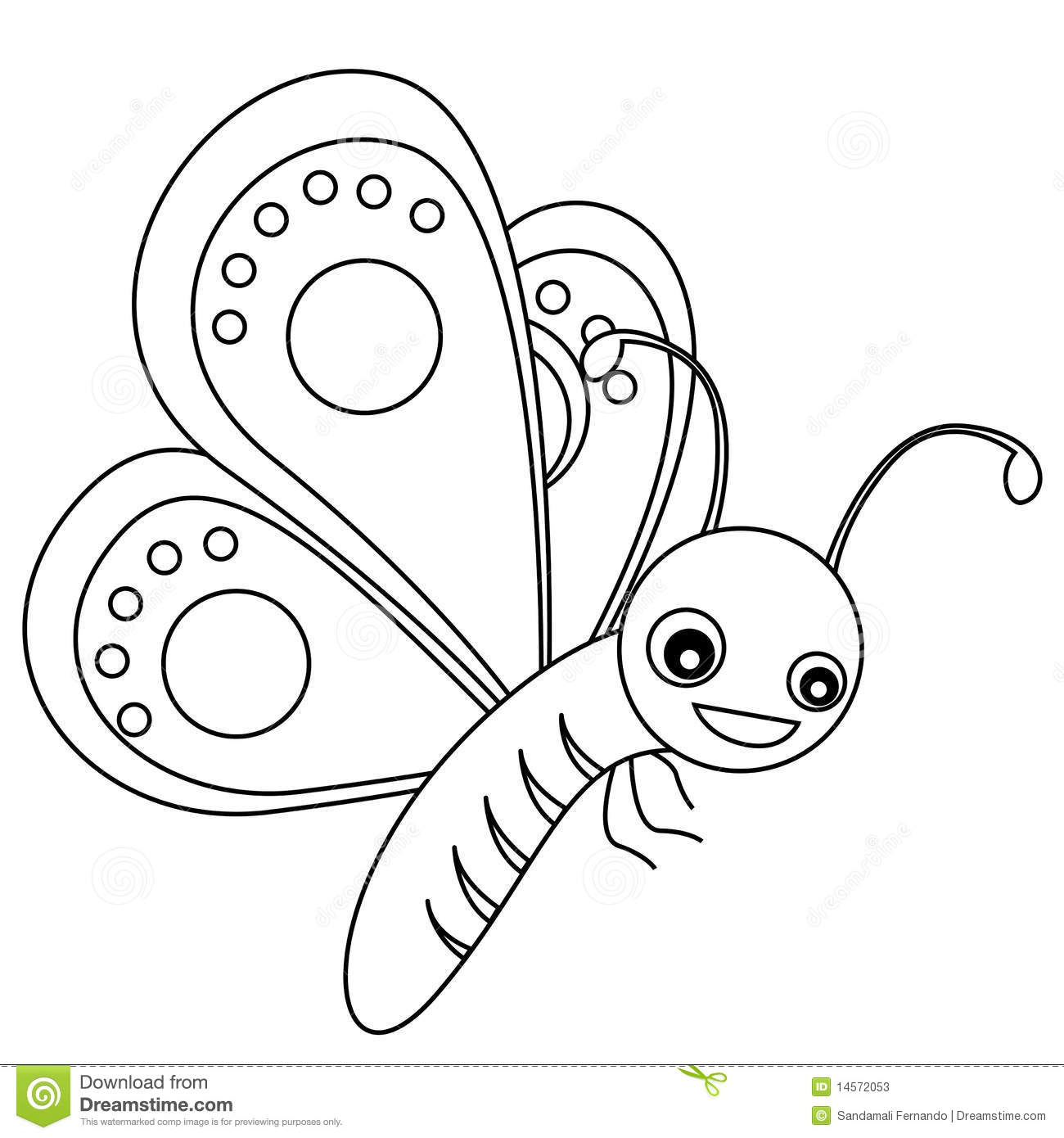 Butterfly Lineart Stock Vector Illustration Of Colouring