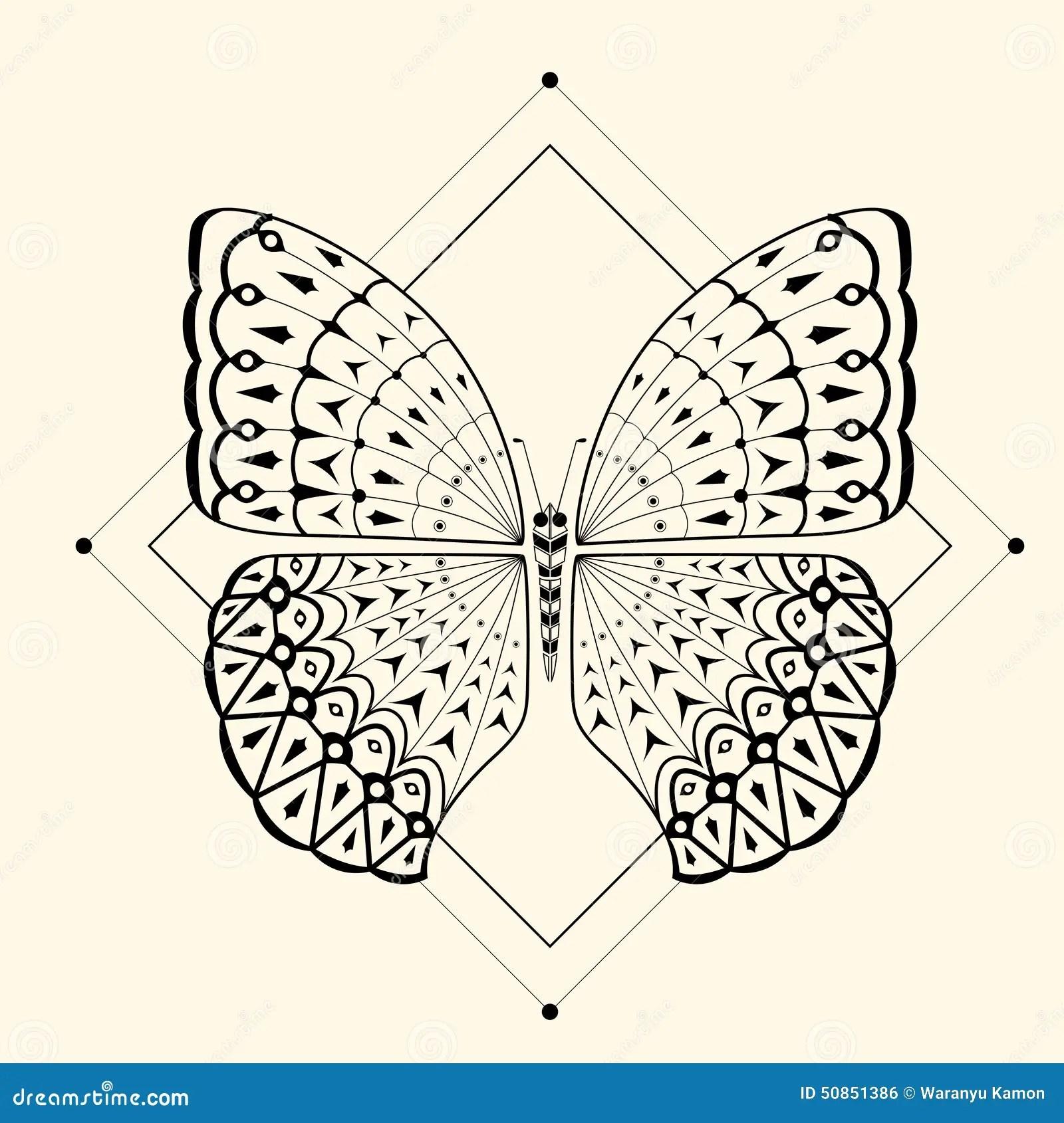 Butterfly Zentangle 2 Stock Vector Image 50851386