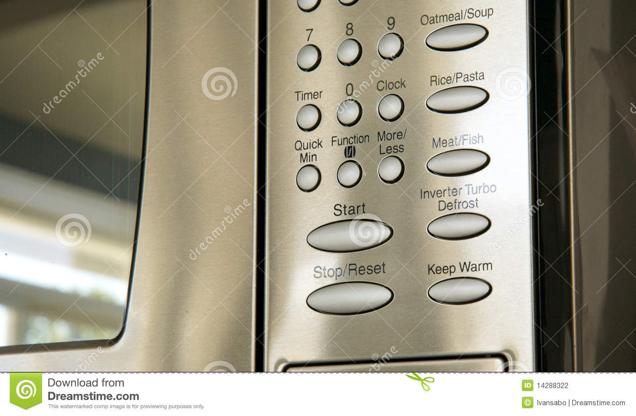 Buttons On A Microwave Oven Stock Photography Image