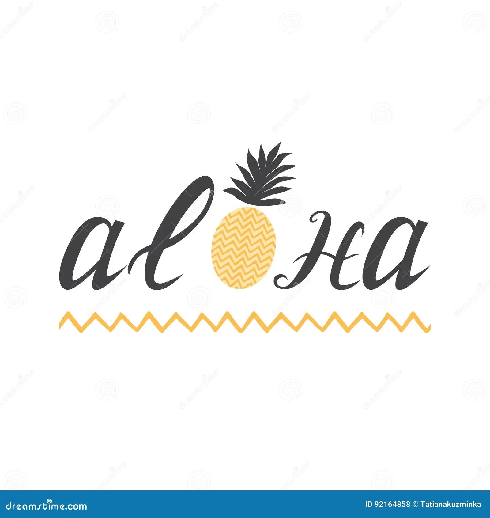 Copia Tropical Para Com O Elemento Da Rotulacao Aloha E O