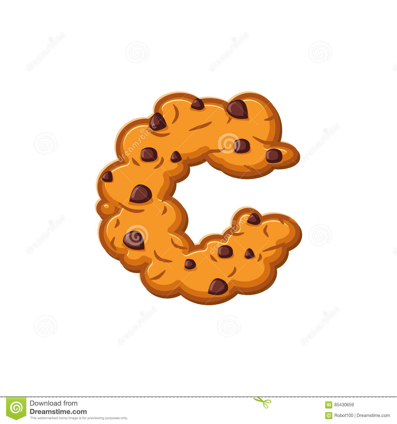 C Letter Cookies Cookie Font Oatmeal Biscuit Alphabet