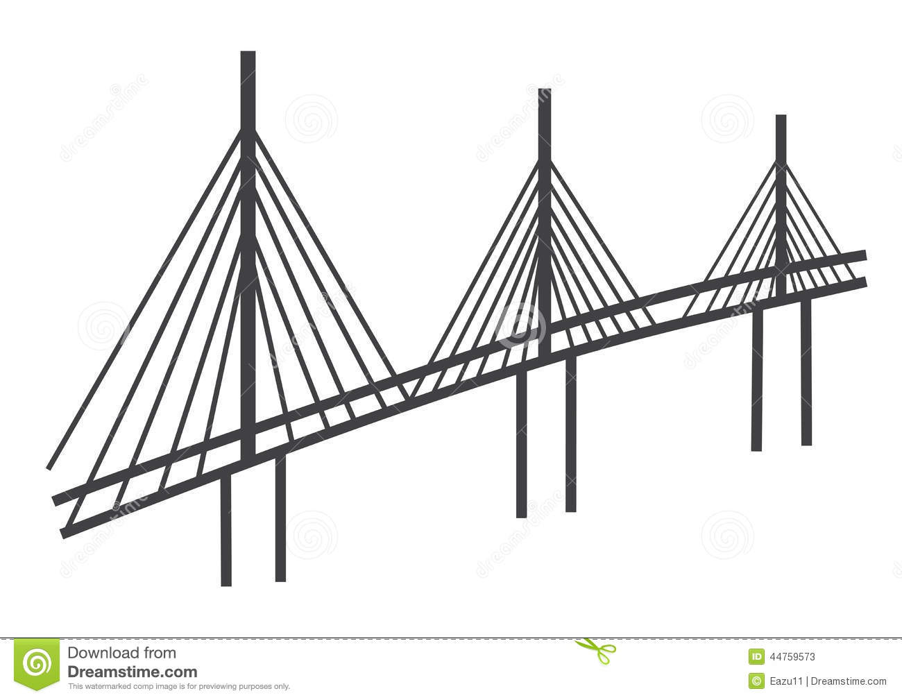Cable Bridge Drawing Editorial Stock Photo Image Of