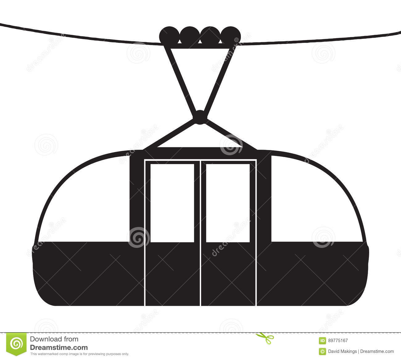 Silhouette Cable Car Stock Illustrations 455 Silhouette