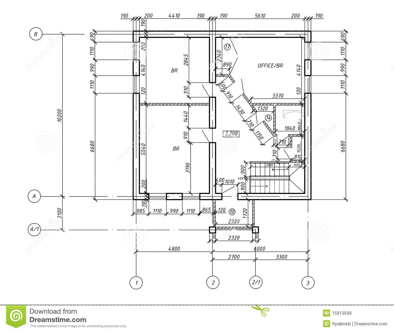 Cad Plan Drawing Blueprint Royalty Free Stock Images