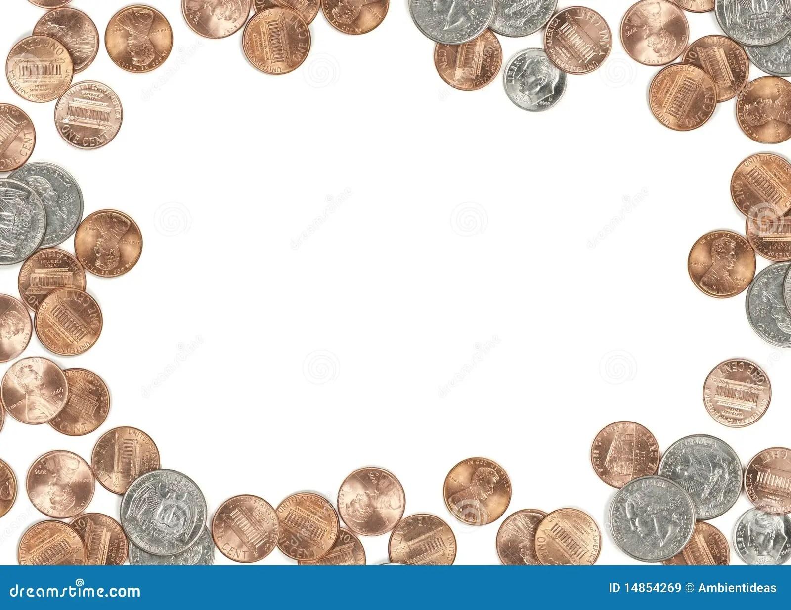 Cadre De Devise De Piece De Monnaie Des Usa Image Stock