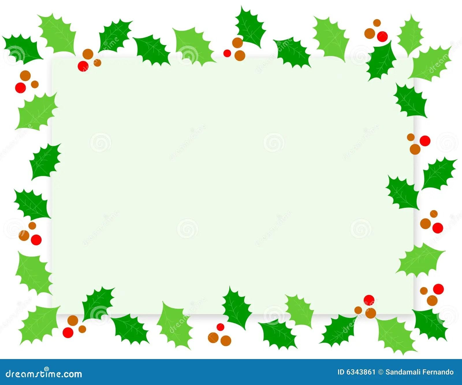 Cadre Houx De Noel Image Stock