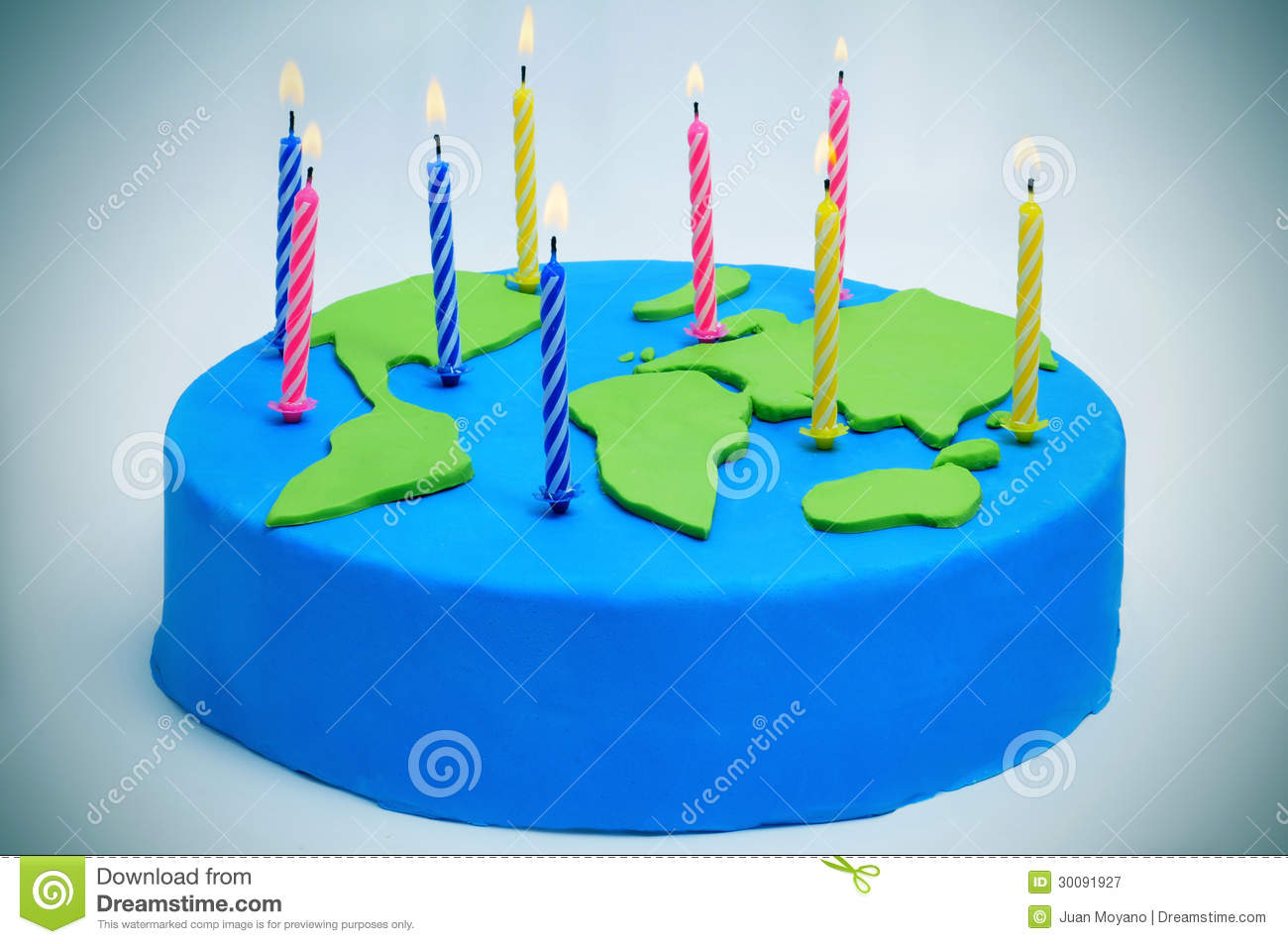 International Mother Earth Day Cake Stock Image