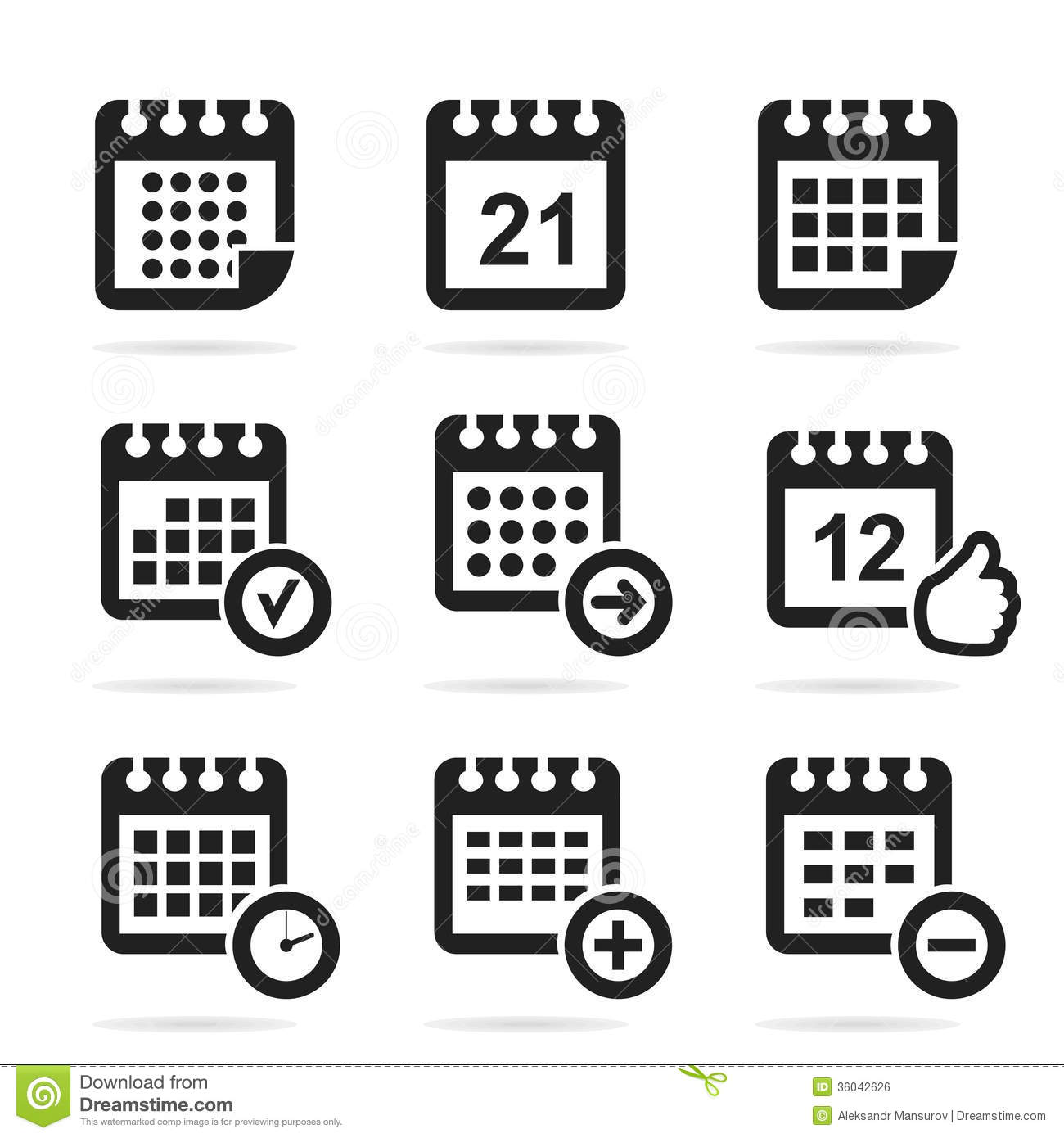 Calendar An Icon Royalty Free Stock Image